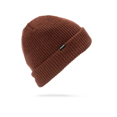 VOLCOM SWEEP LINED BEANIE - BURNT RED - 2019 - Boardwise
