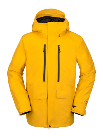 VOLCOM TEN GORE TEX SNOWBOARD JACKET - RESIN GOLD - 2021