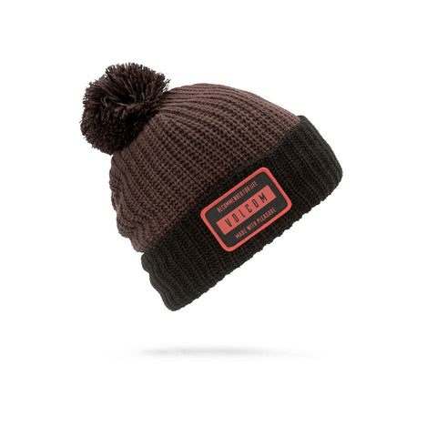 VOLCOM TTT LINED BEANIE - BLACK RED - 2019 - Boardwise