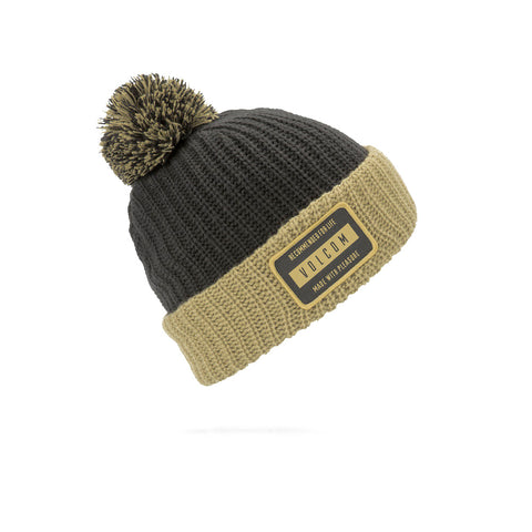 VOLCOM TTT LINED BEANIE - RESIN GOLD - 2019 - Boardwise
