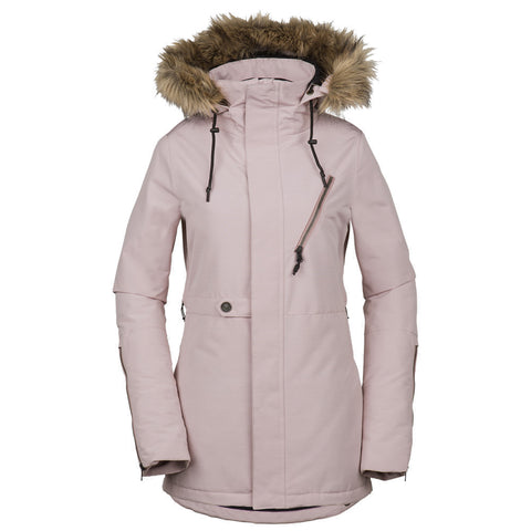 VOLCOM WOMENS FAWN INSULATED SNOWBOARD JACKET - ROSE WOOD - 2019 - Boardwise