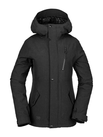 VOLCOM WOMENS ASHLAR INSULATED SNOWBOARD JACKET - BLACK - 2020 - Boardwise