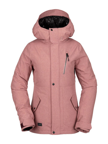 VOLCOM WOMENS ASHLAR INSULATED SNOWBOARD JACKET - MAUVE - 2020 - Boardwise
