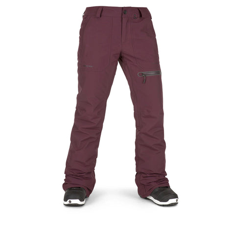 VOLCOM WOMENS KNOX INS GORE SNOWBOARD PANT - MERLOT - 2019 - Boardwise