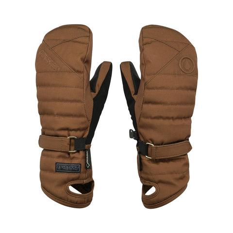 VOLCOM WOMENS PEEP GORE TEX SNOWBOARD MITTS - COPPER - 2018 - Boardwise