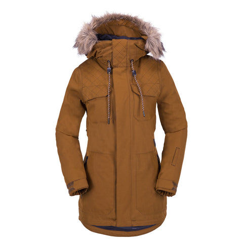 VOLCOM WOMENS SHADOW INSULATED SNOWBOARD JACKET -COPPER - 2018