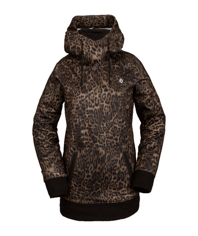 VOLCOM WOMENS SPRING SHRED HOODIE - LEOPARD - 2021