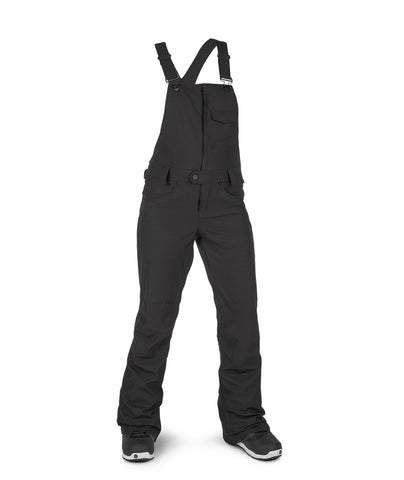VOLCOM WOMENS SWIFT BIB OVERALL SNOWBOARD PANT - BLACK - 2021