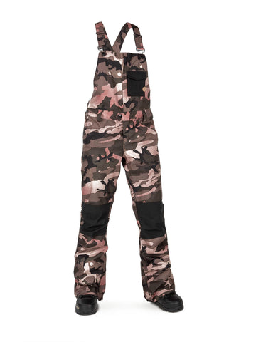 VOLCOM WOMENS SWIFT BIB OVERALL SNOWBOARD PANT - FADED ARMY - 2020 - Boardwise