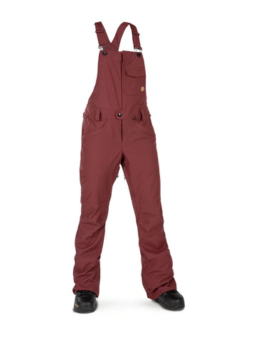 VOLCOM WOMENS SWIFT BIB OVERALL SNOWBOARD PANT - SCARLET - 2020 - Boardwise