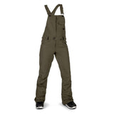 VOLCOM WOMENS SWIFT BIB OVERALL SNOWBOARD PANT - FOREST - 2019 - Boardwise