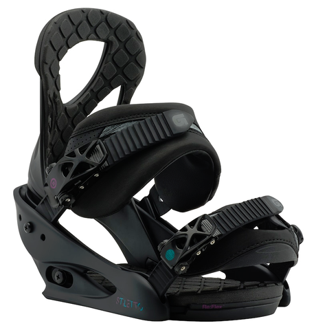 BURTON WOMENS STILETTO SNOWBOARD BINDINGS - BLACK MATTE - 2018