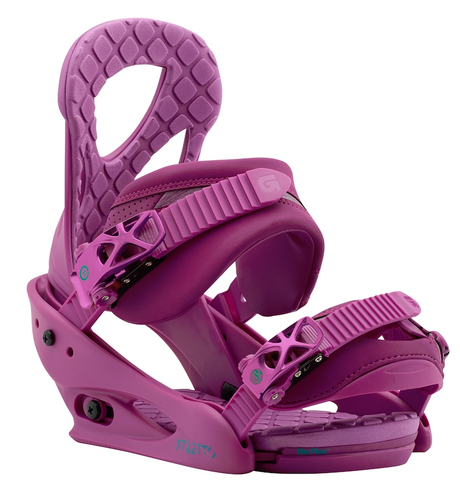 BURTON WOMENS STILETTO SNOWBOARD BINDINGS - HOT PURPLE - 2018