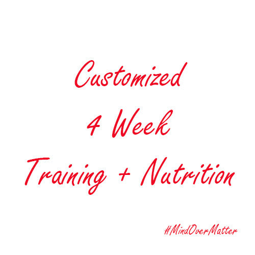 Customized 4 Week Program - Training + Nutrition-Beyond Athlete