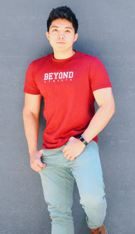 Beyond Athlete - Men Classic Tee - Maroon Energy