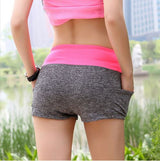Women Fitness Active Shorts - Gray Blue-Beyond Athlete