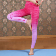 Women Twin Fade Leggings - Hot Pink-Beyond Athlete