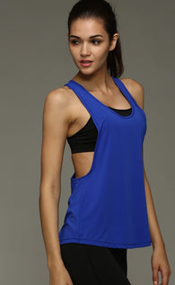 Women Active Tank Top - Blue-Beyond Athlete