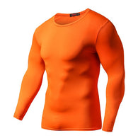 Quick Dry Compression Long Sleeves - Orange-Beyond Athlete