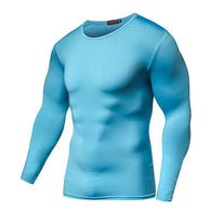 Quick Dry Compression Long Sleeves - Blue-Beyond Athlete