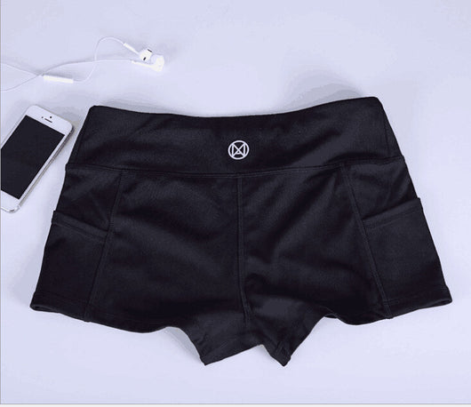 Women Fitness Active Shorts - All Black-Beyond Athlete
