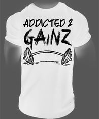 Addicted 2 Gainz Tee - 3 Colors available-Beyond Athlete