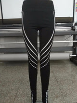 Active Stripes Leggings - Black and White available-Beyond Athlete