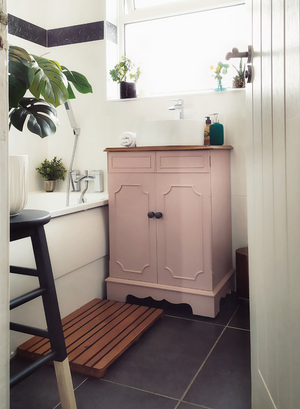 Dusky Blush Bathroom Sink Transformation