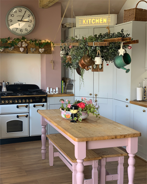 Dusky Blush Kitchen Makeover