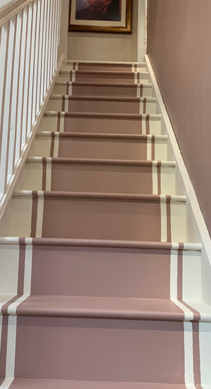 Dusky Blush Staircase Makeover