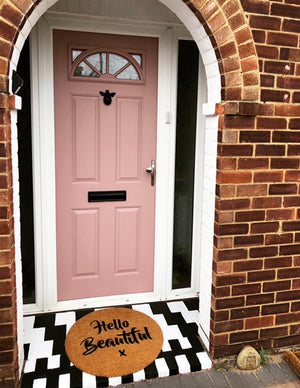 Dusky Blush Door Makeover