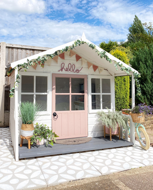 Dusky Blush Wendy House Makeover