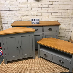 Grey Pebble Cabinet Trio Transformation