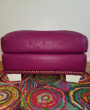 Plum Pudding Ottoman Stool Upcycling Makeover Project
