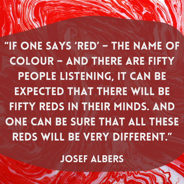 If one says 'red' – Josef Albers