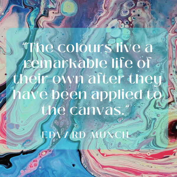 The colours live a remarkable life – Edvard Munch