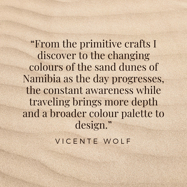 Broader colour palette to design – Vicente Wolf