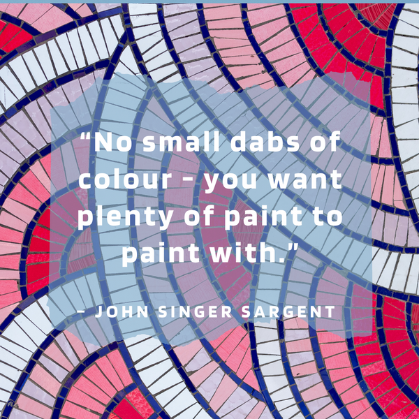 No small dabs of colour – John Singer Sargent