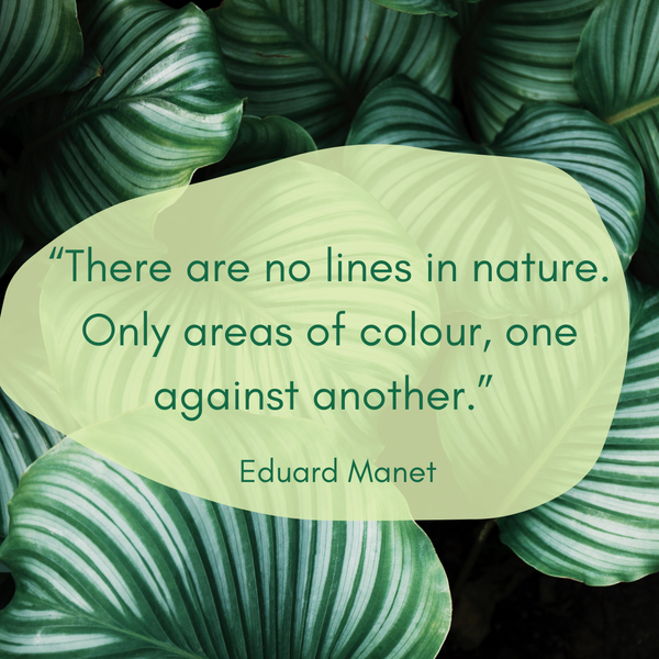 There are no lines in nature – Eduard Manet