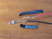 Led and heatshrink