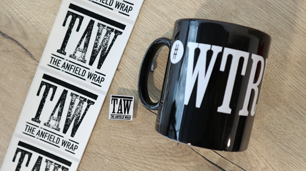 The Anfield Wrap Mug, Stickers and Badges Set - WTRWWAW