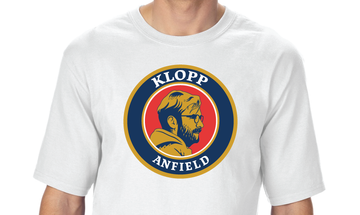 WHITE T-SHIRT WITH KLOPP DESIGN