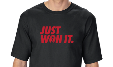 Just Won It - Black T-shirt