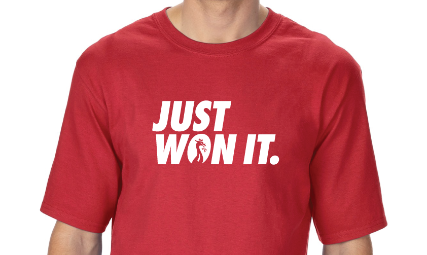 Just Won It - Red T-shirt