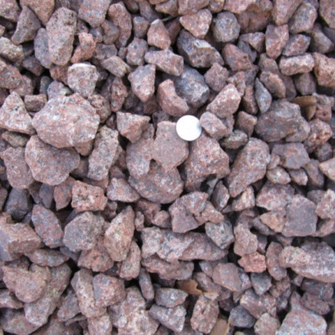 "Bin 3:  1"" - 3"" Red Granite Crushed"