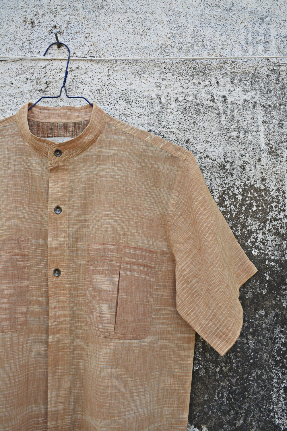 Pale straw colour Half Sleeves Shirt for Men. - metaphorracha