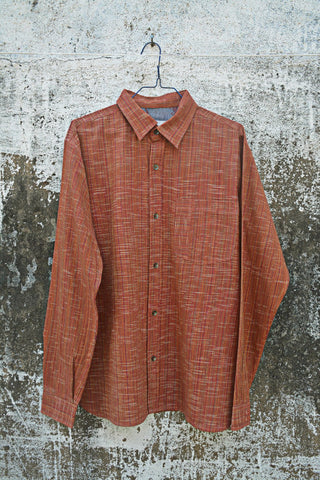 Rust Colour Full Sleeves Shirt for Men.