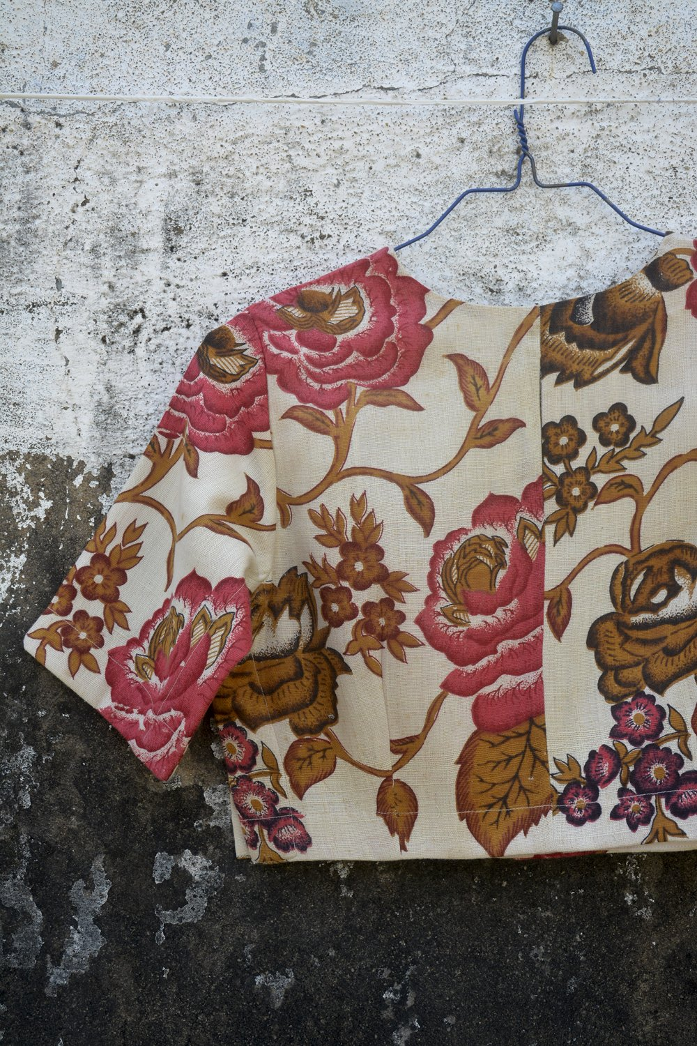Chintz Inspired Print Saree Blouse. - metaphorracha