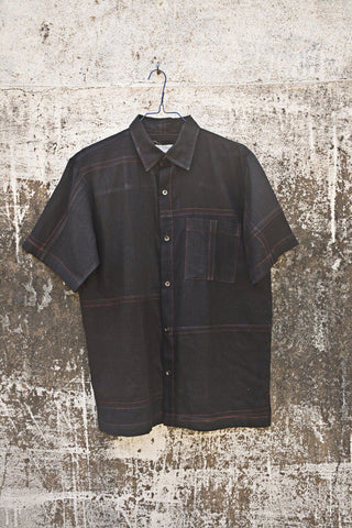 Black Coloured Half Sleeves Shirt for Men.