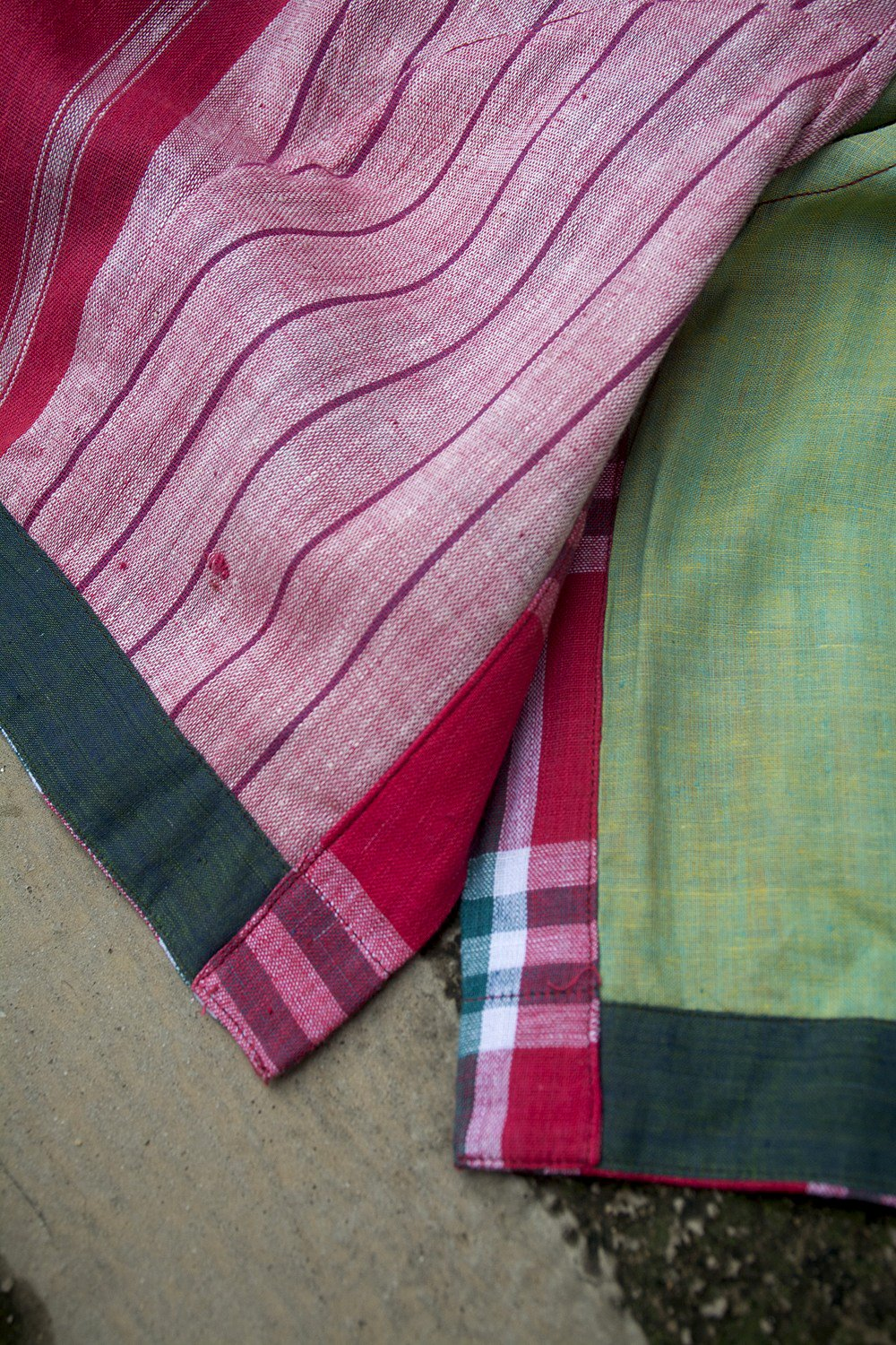 Red Madras Checks Saree Blouse. - metaphorracha